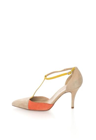 Zee Lane Pantofi colorblock de piele intoarsa cu bareta in forma de T Femei