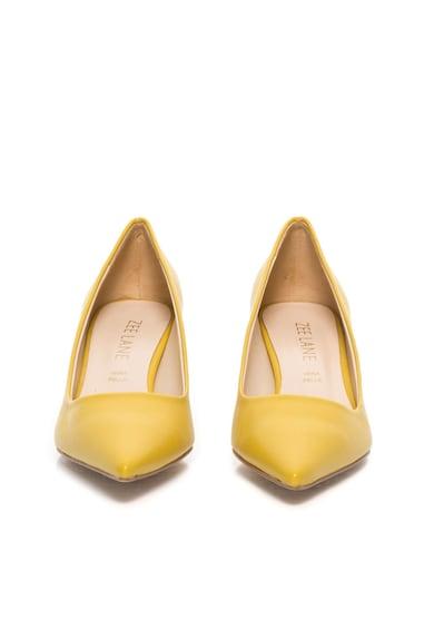 Zee Lane Pantofi galbeni de piele cu toc kitten Femei