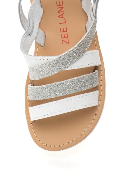 Zee Lane Sandale alb cu argintiu stralucitoare Alice Fete