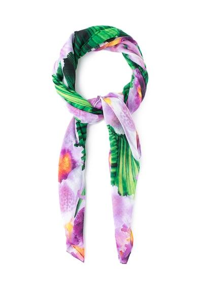 DESIGUAL Esarfa multicolora cu imprimeu tropical Yusti Femei