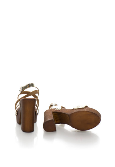 Tosca Blu Sandale aurii de piele cu platforma Vodka Femei