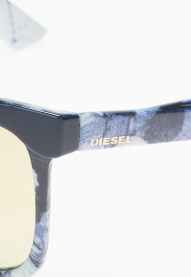 Diesel Ochelari de soare albastru cu alb prafuit Barbati