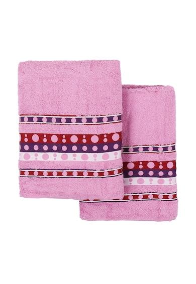 Leunelle Set de prosoape roz cu buline Nokta - 2 piese Femei
