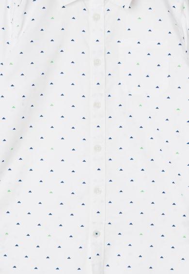 Esprit Camasa alba cu model geometric Baieti