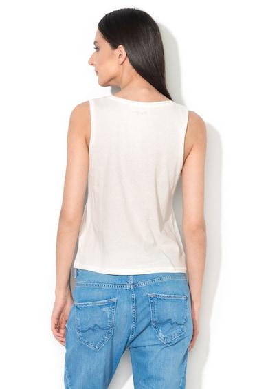 Pepe Jeans London Top alb cu margele Milla Femei
