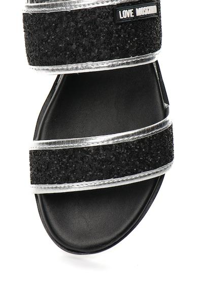 Love Moschino Sandale negre stralucitoare Femei