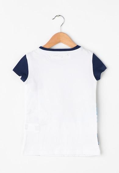 DESIGUAL Tricou alb cu nuante de albastru Phoenix Fete