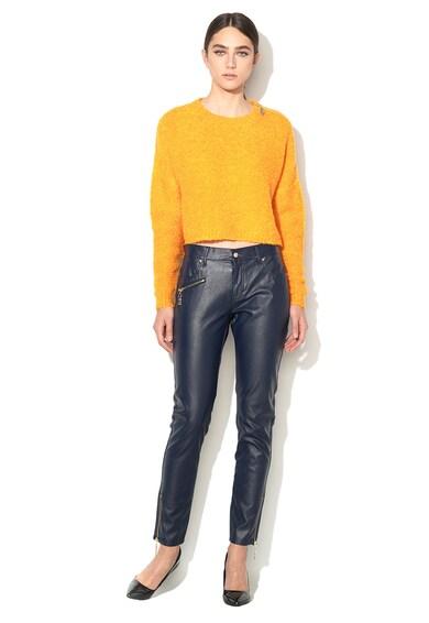 Versace Jeans Pantaloni albastru inchis de piele sintetica Femei