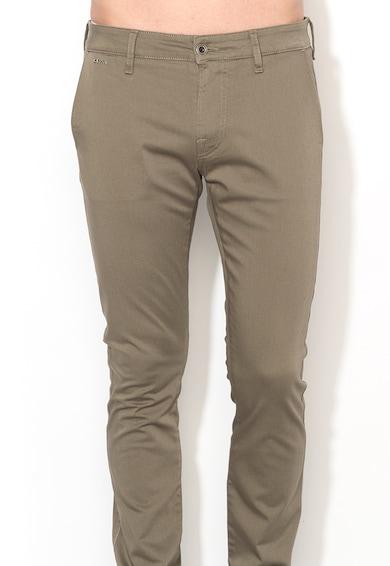 GUESS JEANS Pantaloni super skinny verde militar Barbati
