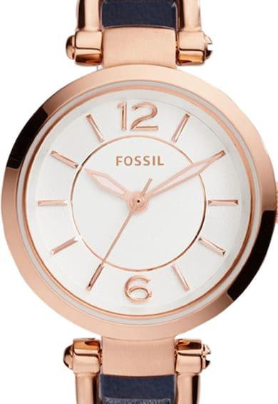 Fossil Ceas bleumarin cu auriu rose Femei