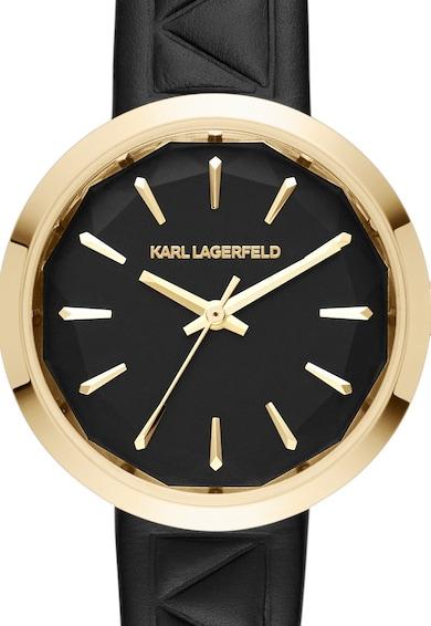 Karl Lagerfeld Ceas negru cu auriu Femei