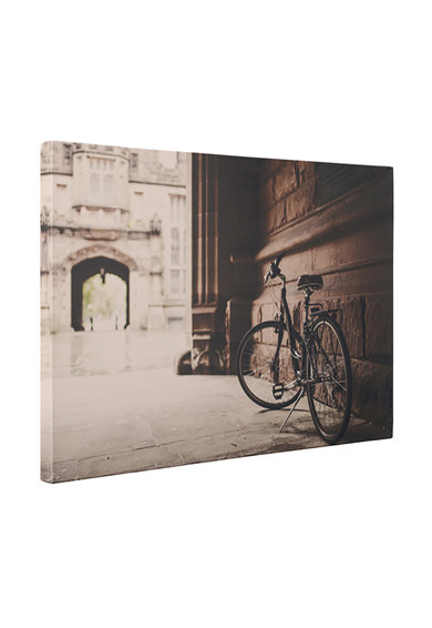 4Decor Tablou de panza Sepia Bicycle Femei