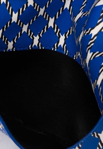 COCCINELLE Geanta plic albastru royal cu alb Femei