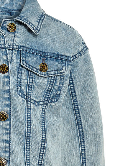 NEXT Jacheta albastra din denim cu aplicatii si imprimeu Fete