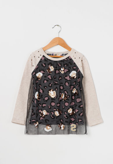 DESIGUAL Bluza multicolora cu animal print Virginia Fete