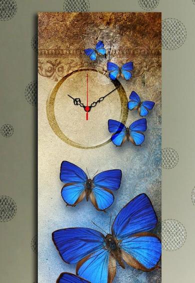Clockity Ceas de perete cu fluturi Femei