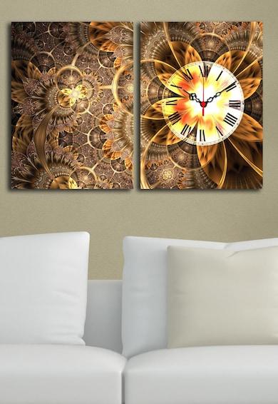 Clockity Ceas de perete cu imprimeu grafic Wallity Diptych Femei