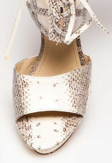Rachel Zoe Sandale alb fildes cu maro din piele Delfinna Femei