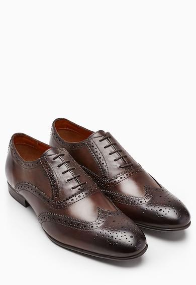 NEXT Pantofi brogue Oxford maro de piele Barbati
