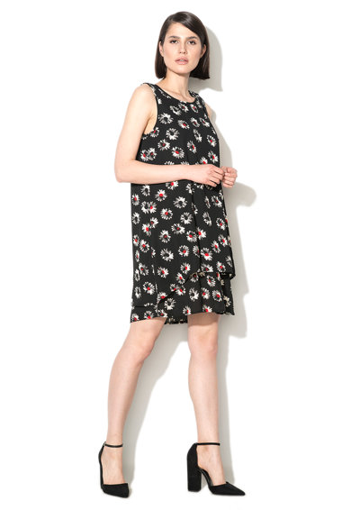 Zee Lane Collection Rochie neagra cu model cu margarete Femei