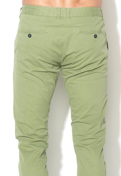 Zee Lane Denim Pantaloni chino verzi cu model grafic discret Barbati