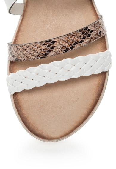 Zee Lane Sandale de piele peliculizata cu barete multiple si detalii cu model sarpe Femei