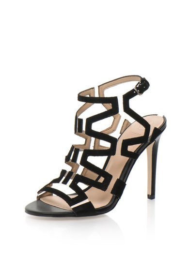 Guess Sandale negre cu toc inalt Femei