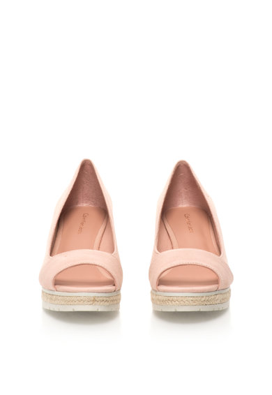 Calvin Klein Jeans Sandale wedge roz deschis de panza cu varf decupat Brit Femei