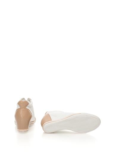 Calvin Klein Jeans Pantofi sport alb si maro cu platforma wedge ascunsa Vero Femei