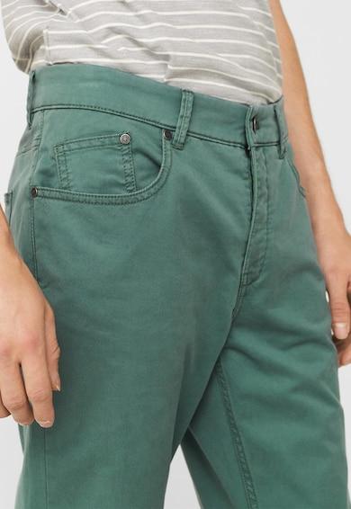 Mango Pantaloni drepti verzi Pisa Barbati