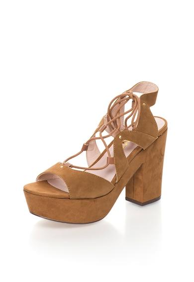 Bronx Sandale demi-wedge cu snururi Femei