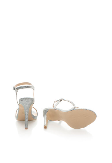 NEW LOOK Sandale stralucitoare cu toc inalt si bareta pe glezna Femei