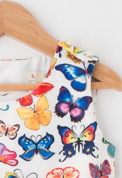 Yumi Rochie fara maneci cu imprimeu cu fluturi Fete