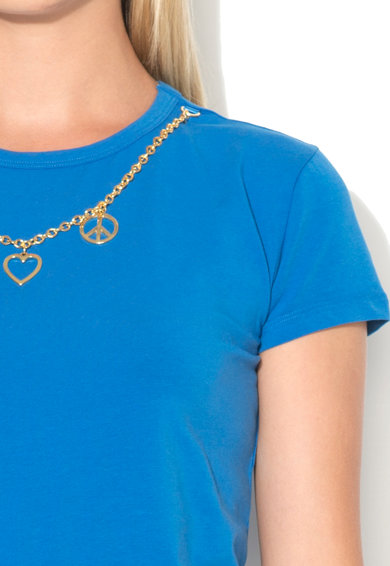 Love Moschino Tricou cu un colier detasabil Femei