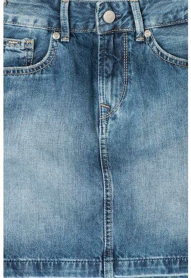 Pepe Jeans London Fusta din denim cu slit pe partea din spate Pennie Fete