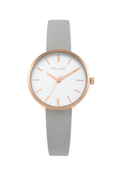 Zee Lane Ceas cu o curea de silicon, Gri/Auriu rose Femei