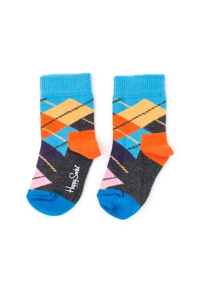 Happy Socks Set de sosete 3/4 cu imprimeu argyle si grafic - 2 perechi Fete