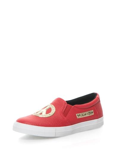 Love Moschino Pantofi slip-on de piele Femei