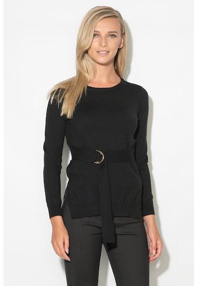 Zee Lane Pulover cu cordon in talie din tricot fin Femei