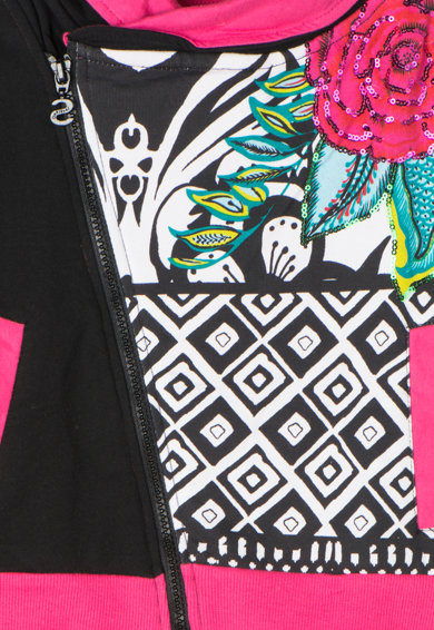 DESIGUAL Bluza sport cu imprimeu si paiete Anderson Fete