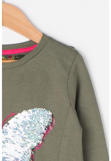 DESIGUAL Bluza asimetrica cu aplicatii cu paiete Honolulu Fete