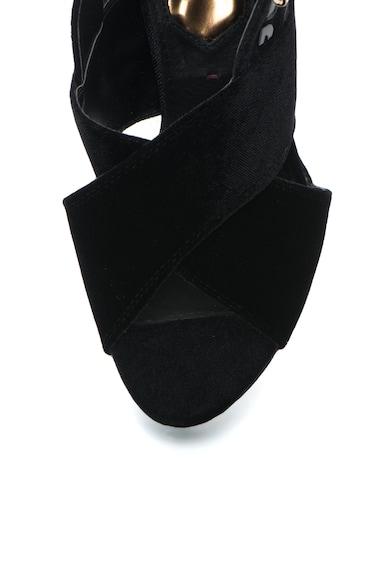 Gioseppo Sandale de catifea cu toc inalt si barete incrucisate Femei