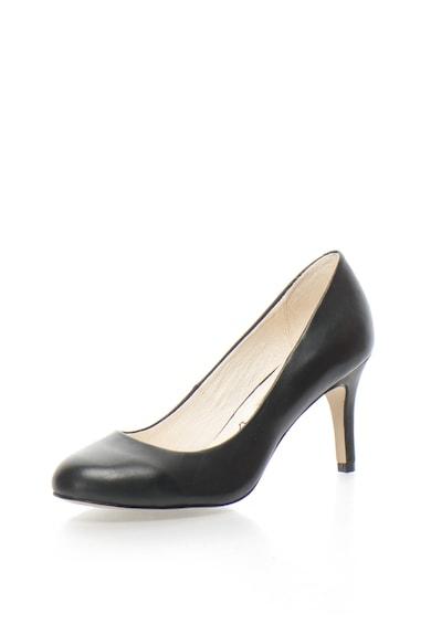 Buffalo Pantofi de piele cu varf rotunjit Femei