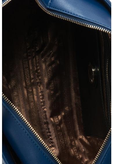 Love Moschino Geanta bowler de piele sintetica cu text brodat Femei