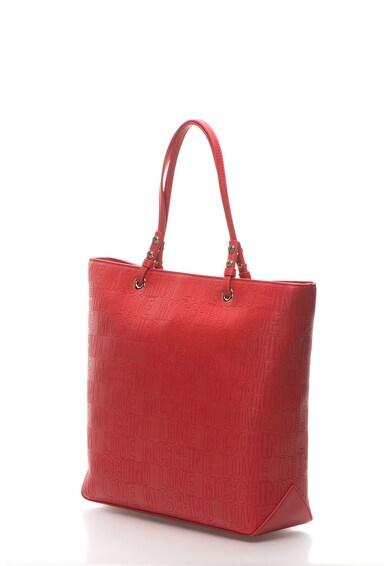 Love Moschino Geanta shopper mare din piele sintetica cu aplicatie logo Femei