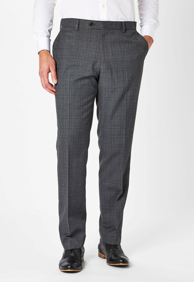 NEXT Pantaloni eleganti slim fit in carouri Barbati