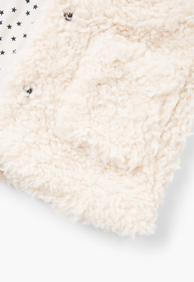 Mango Vesta din piele sintetica cu gluga si buzunare Fete