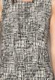 DESIGUAL Rochie negru cu alb Estelar Femei